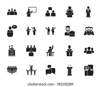 Speech icon set