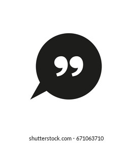 Speech quote bubble icon