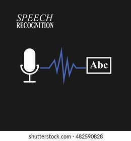 Speech recognition illustration on black background