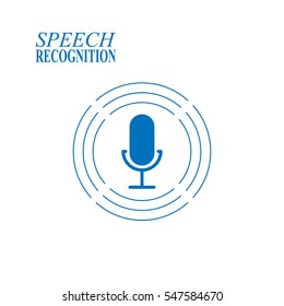 Speech recognition illustration on white background