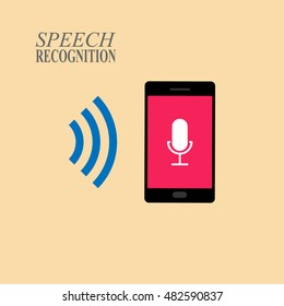 Speech recognition technology illustration