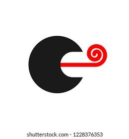 Speech therapist logo sign. speech pathologist symbol. Open mouth and tongue