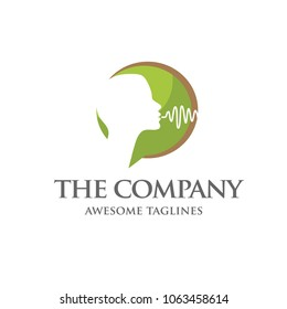 speech therapy logo concept