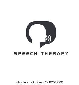 speech therapy logo icon designs vector