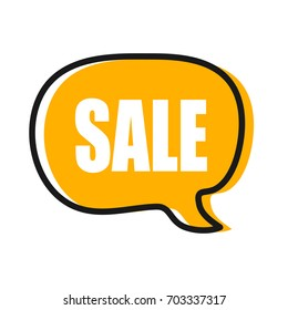Speech trendy bubble with word Sale. Vector stock.