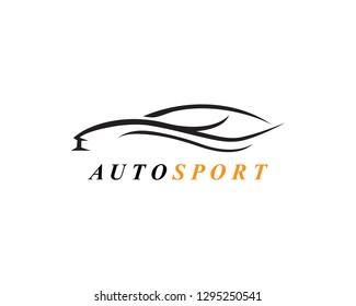 Speed auto Car logo template icon design