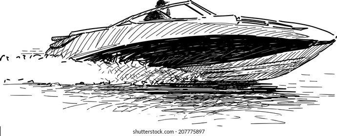 Outboard Speed Boat Stock Vectors, Images & Vector Art