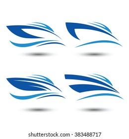speed boat logo icon,vector illustration