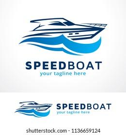 Speed Boat Logo Template Design, Symbol, Icon