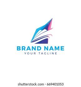 Speed Boat, Yacht vector logo design.