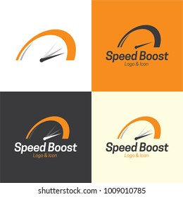Speed Boost Logo and Icon - Vector Illustration