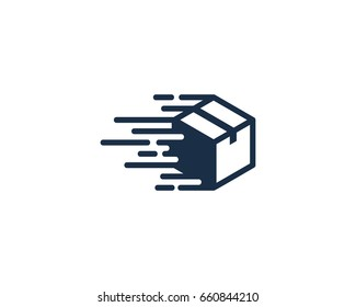 Speed Box Icon Logo Design Element