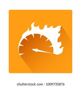Speed Button icon stock vector illustration design