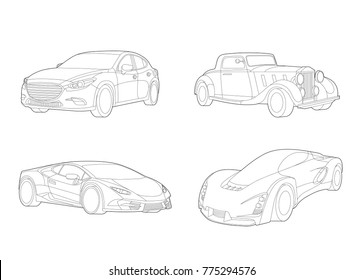future car images stock photos vectors shutterstock Smokey and the Bandit Power Wheels speed car vector automobile set transportation set car icons car illustration