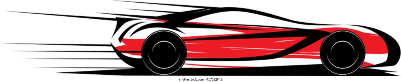 Speed car . Vector illustration