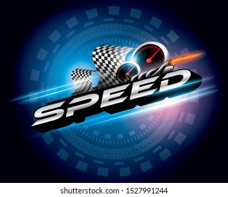 Speed concept logo design vector.