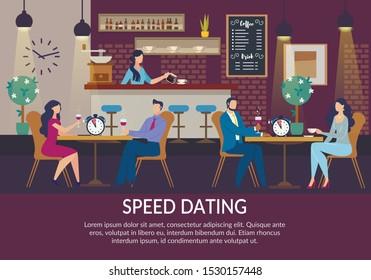 Café circa Speed Dating koppla upp processen