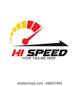 Speed and Fast logo template, Isolated on white background