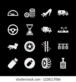 speed icon. speed vector icons set oil truck, pedals, pedal and steering wheel