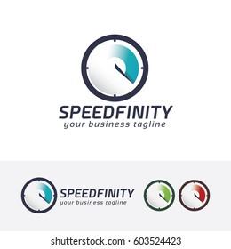 Speed Infinity, Vector logo template