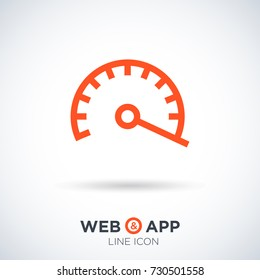 speed isolated minimal icon. power line vector icon for websites and mobile minimalistic flat design.