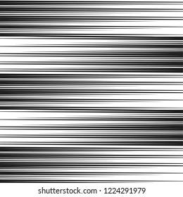 Speed Line Pattern Comic Book Vector Screentone Manga Black and White Background.