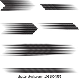 Speed Lines in arrow Form . Vector Illustration .Technology  Logo . Design element . Abstract Geometric shape .