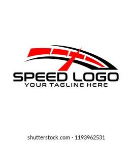 Speed Logo Design. Fast Logo Vector Template