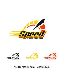 Speed Logo. Speedometer Logo Vector Art
