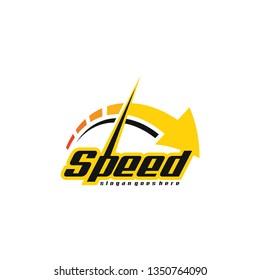 Speed logo template. Speedometer logo template