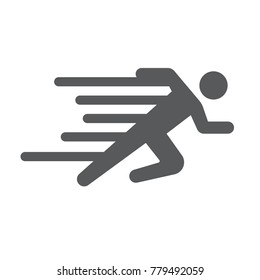 Speed man icon