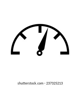 Speed meter icon isolated on white background. Vector illustration