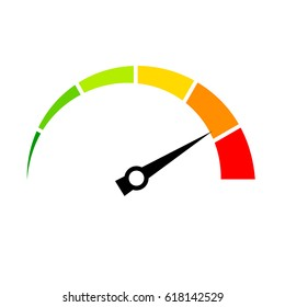 Speed meter vector icon illustration isolated on white background