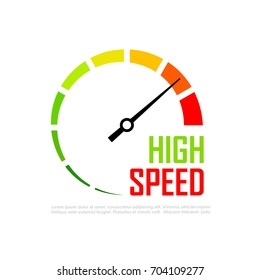 Speed metering infographics vector icon illustration isolated on white background