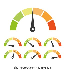 Speed metering or rating icon. Vector