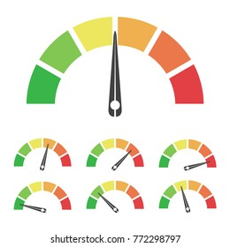 Speed metering or rating icon. Vector illustration