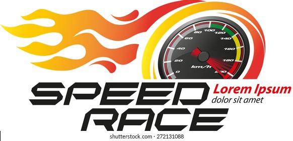 Speed Race Logo Event