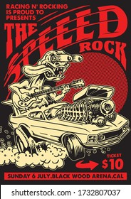 Speed Rock Gig Poster Flyer Template