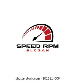 speed RPM logo vector graphic abstract modern