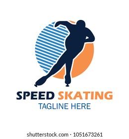 Speed skating logo