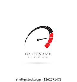 Speed, Speedometer & RPM Logo. Icon & Symbol Vector Template