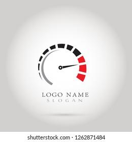 Speed, Speedometer & RPM Logo. Icon & Symbol Vector Template