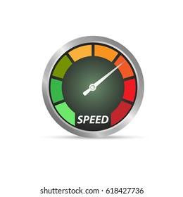 Speed test arrow vector icon