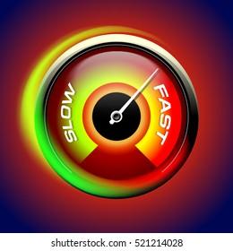 Speed test internet, fast speedometer