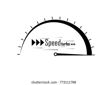The speed of the text silhouette.Abstract logo symbol speed.vector illustration.The effect of movement to your design.