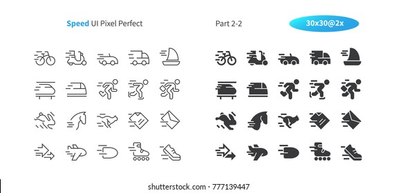 Speed UI Pixel Perfect Well-crafted Vector Thin Line And Solid Icons 30 2x Grid for Web Graphics and Apps. Simple Minimal Pictogram Part 2-2