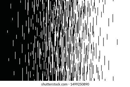 Speed vertical lines Gradient pattern Vector pixel texture Fast effect design Black elements on white background