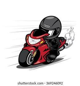 Speeding Motorcycle Racer
