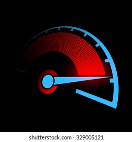Speedometer of the car. Stock vector illustration.