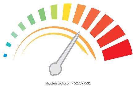 speedometer dashboard - vector